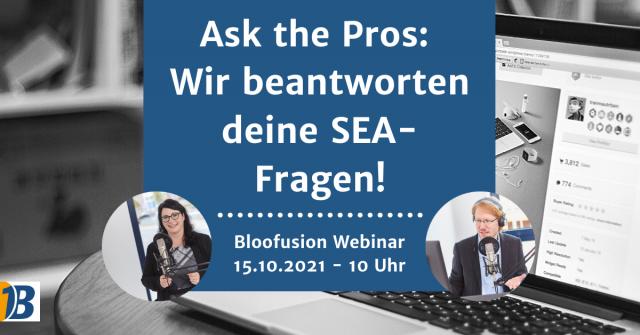 Webinar-Ankündigung: Ask the Pros – Wir beantworten deine SEA-Fragen!